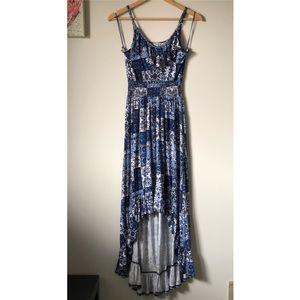 Kismet paisley patchwork high-low dress - XS